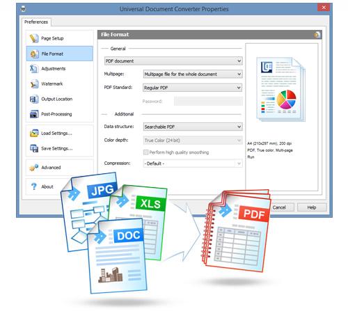 PDF Converter JPG PNG DOC Print Free Download